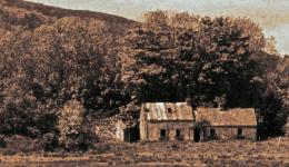 sepia: old Irish home
