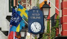 clock in Temple Bar, Dublin, Ireland