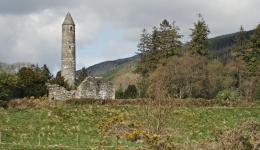 monastery tower at Glendalough, Co Wicklow, Ireland
