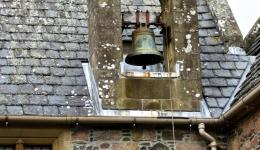 bell at Iona Abbey, Scotland