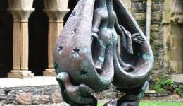 statue in cloister, Iona Abbey
