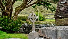 Celtic Cross: Kilmalkedar Church, Co Kerry