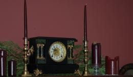 old clock and candles