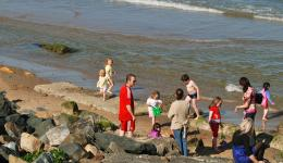 beach scene, Courtown, Co Wicklow