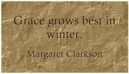 quote: grace grows best in winter
