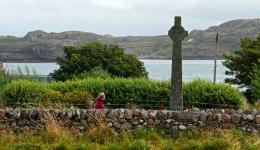 old cross at Iona, Scotland