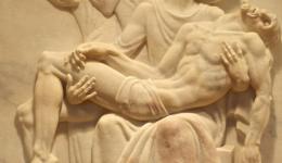 bas relief, Pieta, Tyndale Seminary Chapel