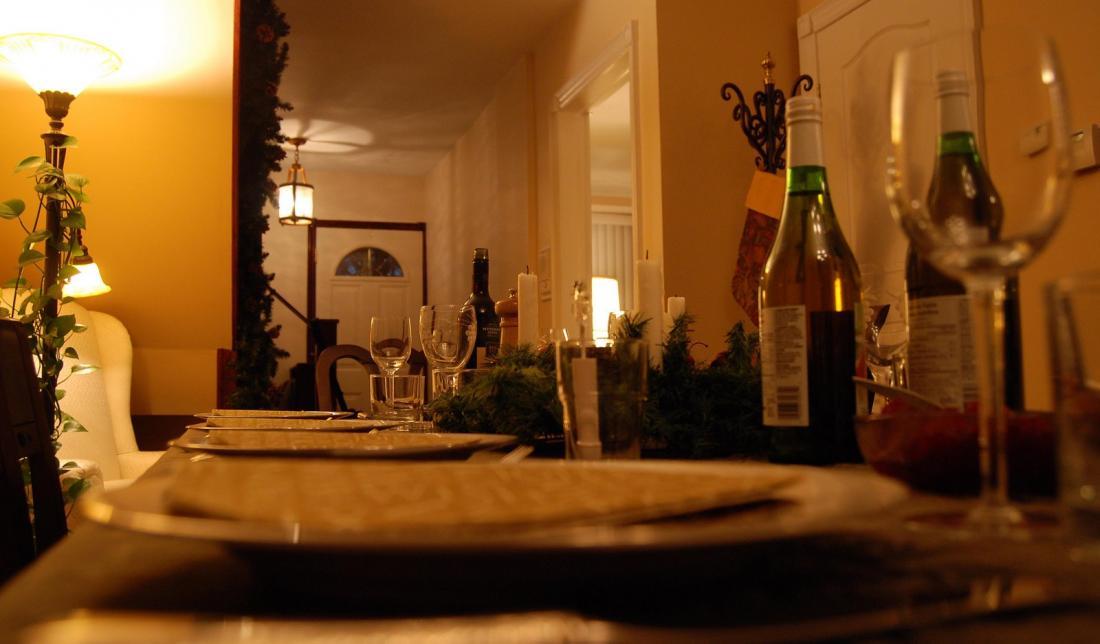 a table set