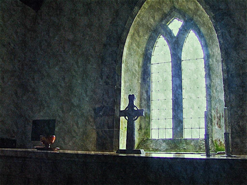 window, Iona, Scotland